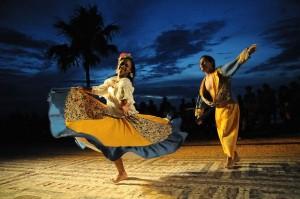 Casal dança carimbó em Belém. Foto. Everaldo Nascimento/Agência Pará de Notícias