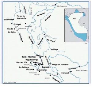Figura 1. Barragens planejadas na região amazônica do Peru (fonte: [4]).
