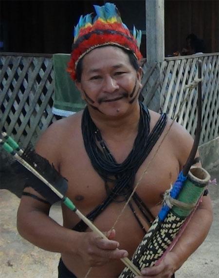Para PF o cacique Ivan Tenharim não foi assassinado (Foto: Divulgação Funai)