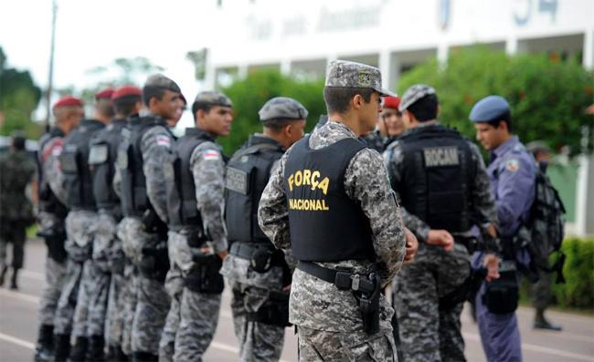Forças de segurança ocupam a cidade de Humaitá (Foto: Chico Batata/Agecom