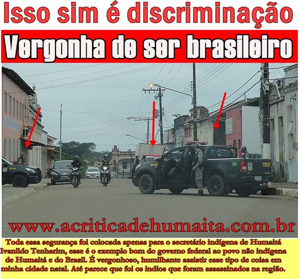 Reprodução de fotografia com frases de protestos do site www.acriticadehumaitá.