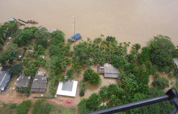 População de Abunã abandonou casas depois da cheia (Foto: MAB Amazônia)