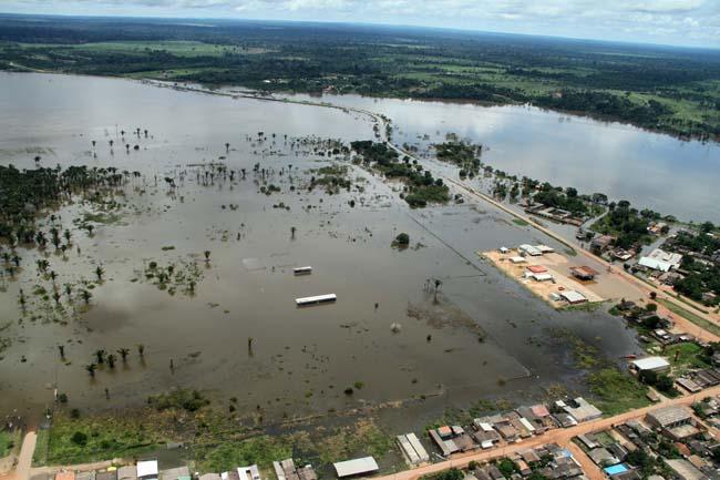 Distrito de Jaci-Paraná onde famílias receberam ajuda das usinas (Foto: Marcos Freire/Decom (RO))