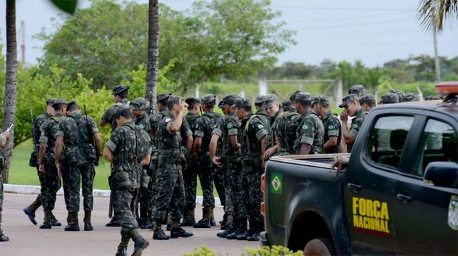 Força Nacional permaneceu em Humaitá durante as investigações do crime (Foto: Chico Batata/Agecom)