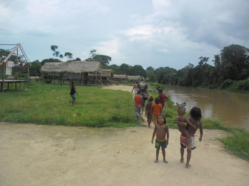 Aldeia da etnia kulina, em Eirunepé, no Amazonas.  (Foto: Arquivo Funai)