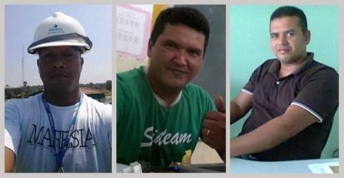 Aldeney Salvador, Stef Pinheiro e Luciano Freire (Fotos: Portal Apuí)