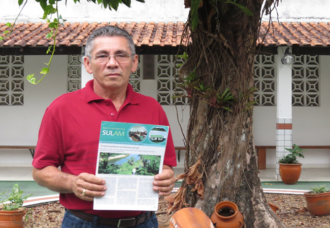Pastor Antônio Vasconcelos, liderança extrativista, uma das pessoas ameaçadas de morte. Foto: Elaíze Farias.