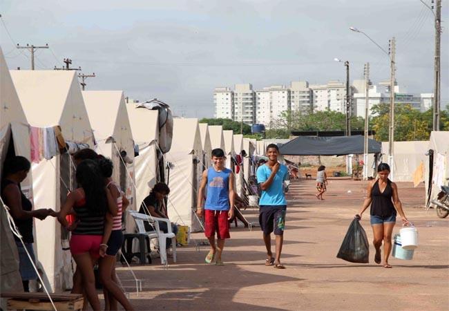 Rondônia ainda tem 180 famílias alojadas em abrigo de barracas