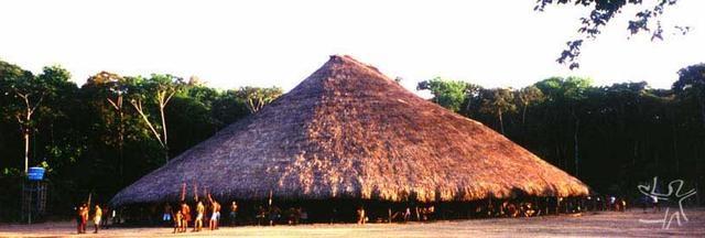 Aldeia Waimiri Atroari. (Foto: ISA/Henrique Cavalleiro, 1999)