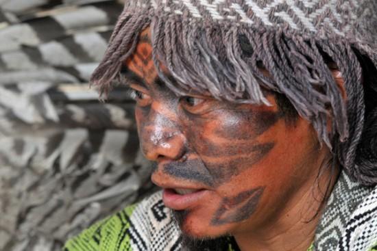 Líder kaxinawá, Ninawa Huni Kuin (Foto: Mário Vilela/Funai 2012)