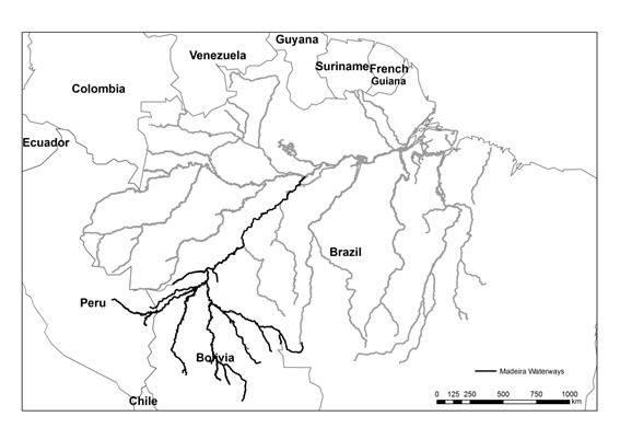 mapa hidrovias