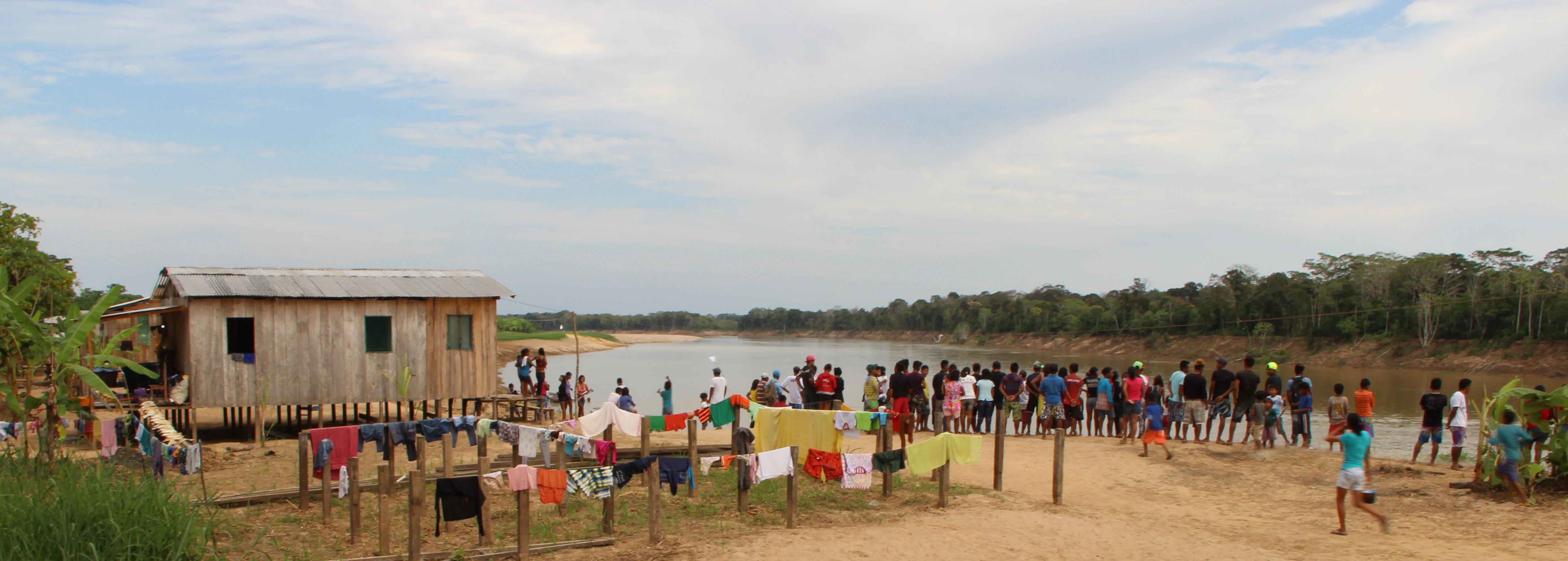 Aldeia indígena São Clemente do povo paumari (Foto: Oiara Bonilla)