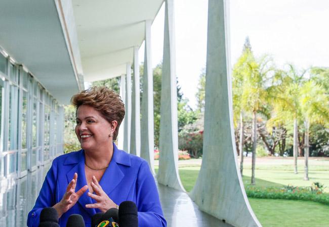Presidente Dilma Rousseff durante coletiva à imprensa (Fotospublicas/Ichiro Guerra)