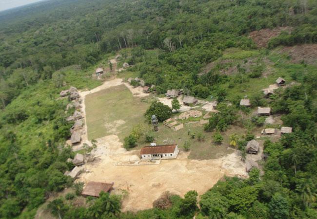 Na aldeia São Luís funcionou a Seção 25 do povo Kanamary (Foto: Ester Maia/AR)