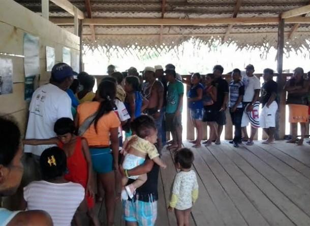 Na aldeia Lobo funcionou a Seção 26, que atendeu índios Mayuruna. (Foto: Ester Maia/AR)