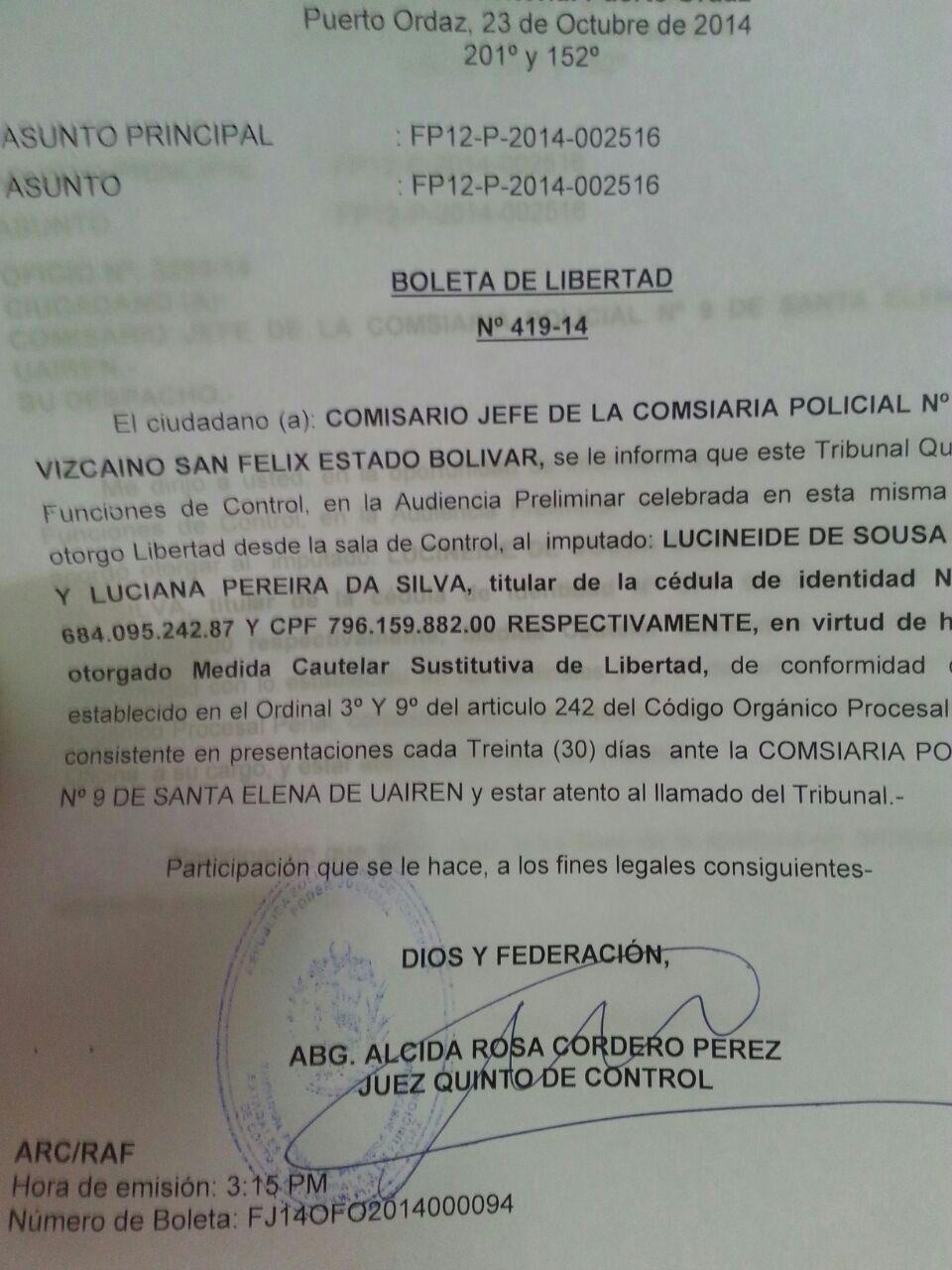 documento venezuela