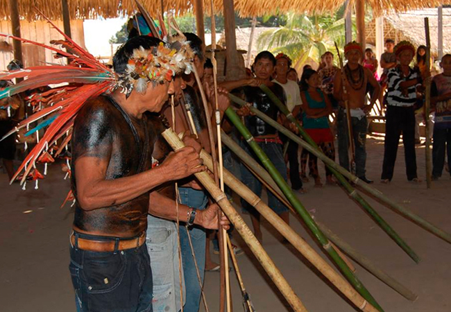 Na Festa Mboatwa acontecem várias cerimônias da etnia Tenharim (Foto: Funai)