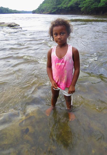 Rakely de Oliveira Nascimento, 5, filha de Sabino Nascimento, descendente dos primeiros quilombolas. Foto: Elaíze Farias.