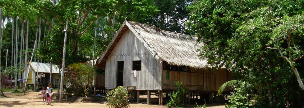 Comunidade Floresta, no rio Unini, dentro do Parque Nacional do Jaú, em Novo Airão (AM) (Foto: Arquivo Pessoal),