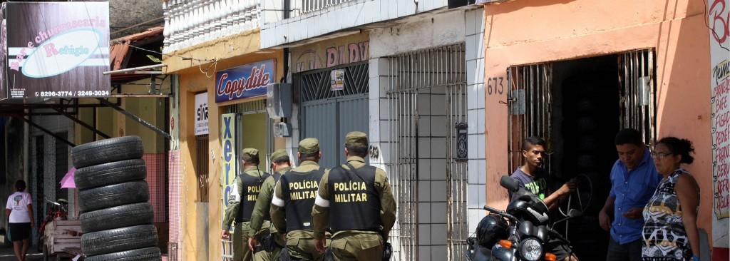 Policiamento no bairro do Guamá na manhã de 5 de novembro (Fotospúblicas: Eliseu Dias/Ag. Pará)