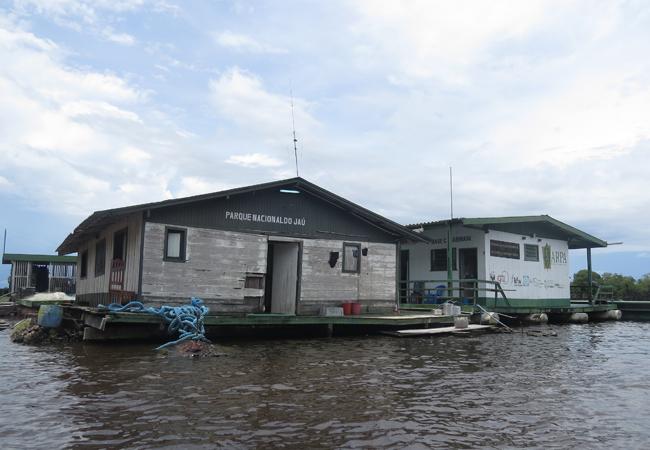 Sede da administração do Parque Nacional do Jaú (Foto: Elaíze Farias/AR)