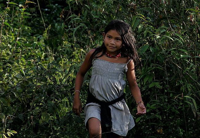 Mborep, filha de Borehá Juma com Erowak Uru-eu-wau-wau (Foto: Odair Leal/AR)