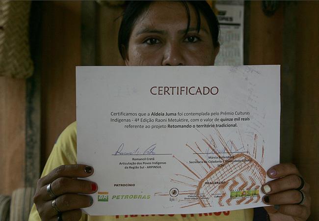 Mandeí aguarda dinheiro do prêmio (Foto: Odair Leal/AR)