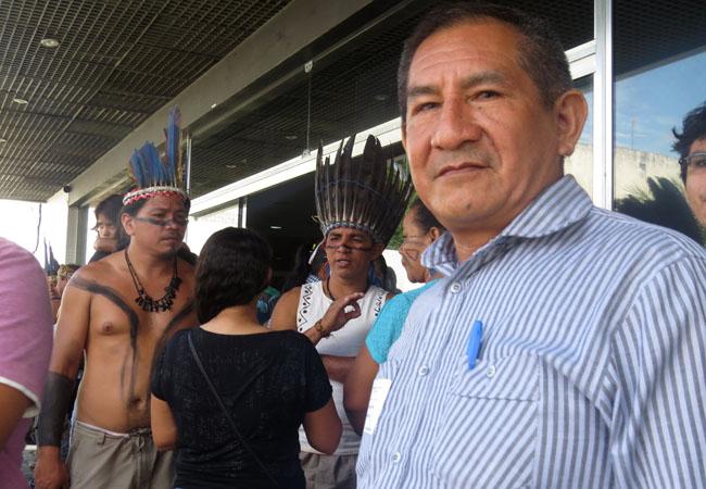 O coordenador-geral da Coiab, Maximiliano Correa,  tentou dialogar com governo e deputados. (Foto: Elaíze Farias/AR)