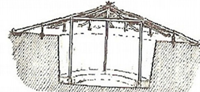 Concepção artística de uma casa subterrânea em adaptação de Fernando La Salvia.