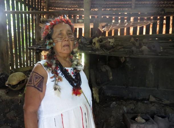 Patrimônio ameaçado: Baku Sateré-Mawé detém o conhecimento tradicional da etnia (Foto: Elaíze Farias/AmReal)