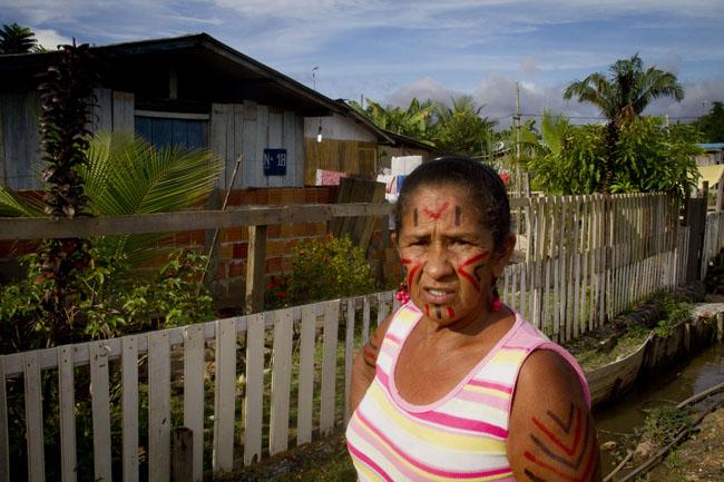 Ângela Gonçalves da Silva , 55 anos, da etnia mura. (Alberto César Araújo/FotoAmazonas)