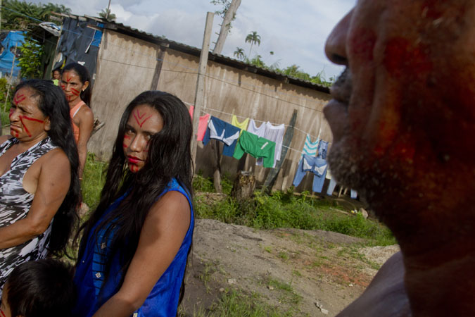 Moradores indígenas  vivem na área há pouco mais de quatro anos. (Foto: Alberto César Araújo/FotoAmazonas)