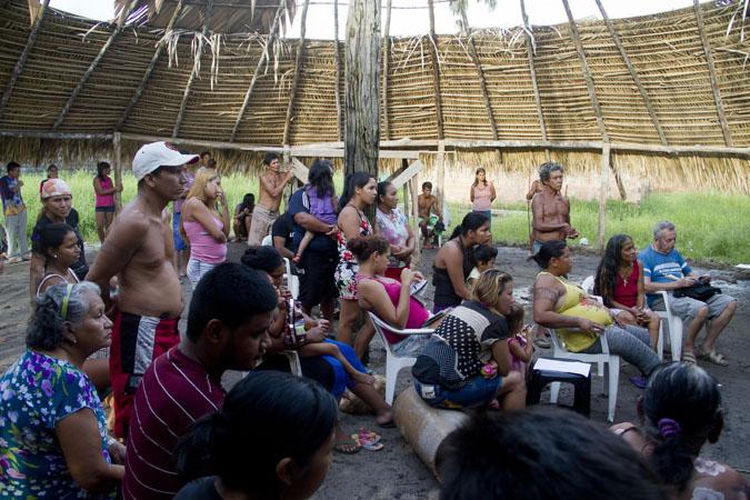 Índios estão apreensivos com decisão de retirá-los da área no Tarumã. (Alberto César Araújo/FotoAmazonas)