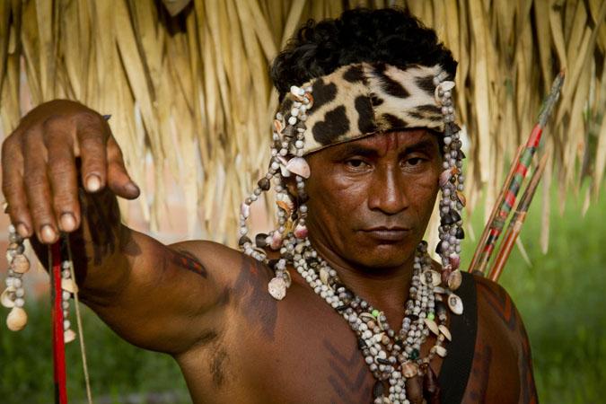 O índio mura Tamilton da Silva, 42 anos, mora na comunidade há quatro anos. (Alberto César  Araújo/FotoAmazonas)