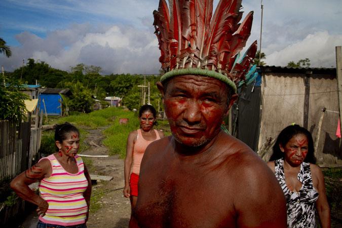 O cacique Pedro dos Santos Vale, 65, da etnia mura. (Alberto César Araújo/FotoAmazonas)