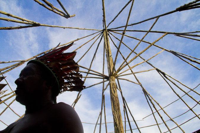 O cacique Pedro dos Santos Vale, 65, da etnia mura, uma das liderancas da comunidade. (Alberto César Araújo/FotoAmazonas)