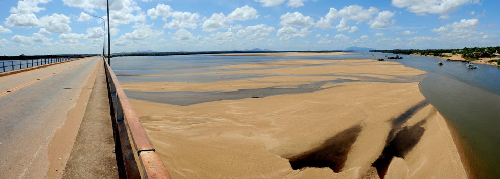 Seca do rio Branco, em Roraima. (Foto: Jorge Macêdo)
