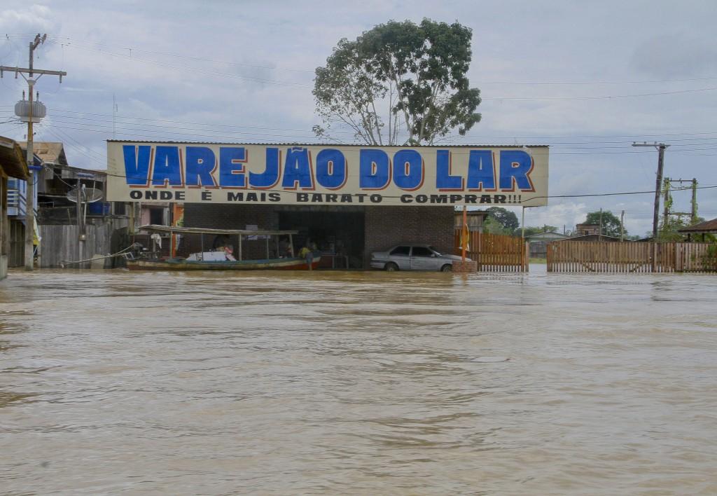 Cheia em Boca do Acre em 2015 (Foto: Alberto Cesar Araujo/Amazônia Real)