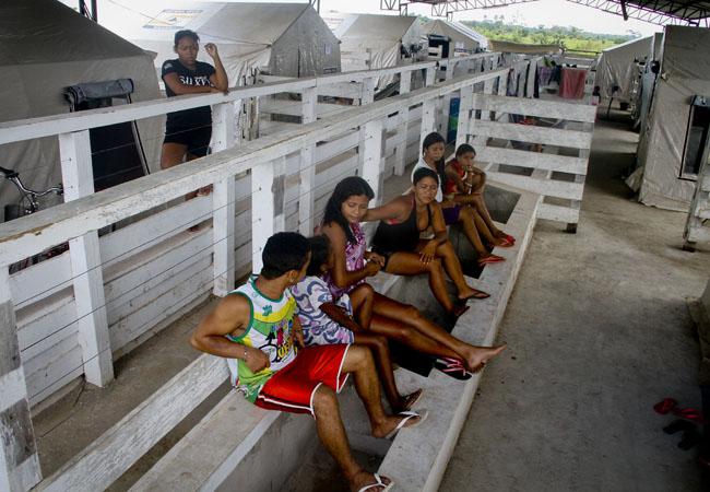 Em Boca do Acre os desabrigados foram alojados no Centro de Exposicao Agropecuario (FotoAmazonas/Alberto Cesar Araujo)