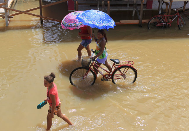 Cheia do rio Purus alaga ruas de Canutama  (FotoAmazonas/Danilo Mello)