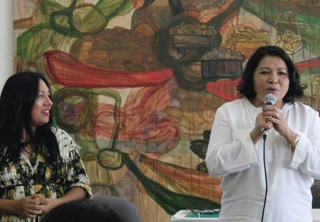 As jornalistas Elaíze Farias e Kátia Brasil. (Foto: Alberto César Araújo/AmReal)