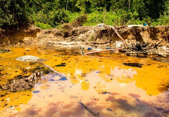 Degradação ambiental na reserva Yanomami em 2013. (Foto: Guilherme Gnipper/Funai)