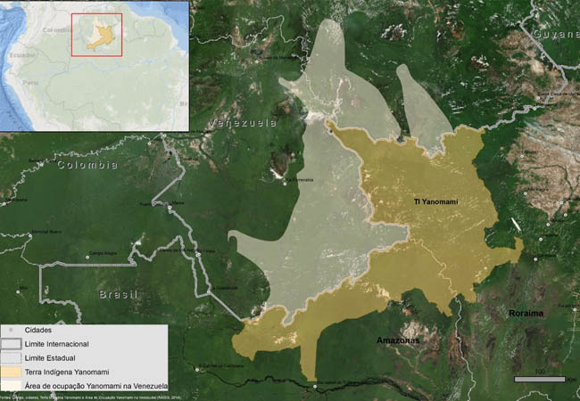 Mapa da Õkrãpomaɨ – Expedição Yanomami (Ninja/ISA/Hutukara)