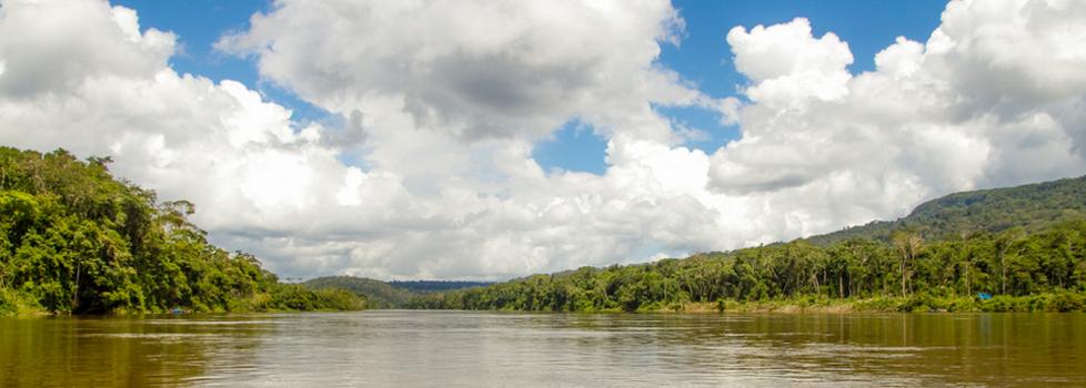 O garimpo se concentrava ao longo do rio Uraricoera. (Foto: Guilherme Gnipper/Funai/2013)