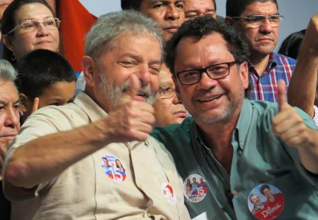 João Pedro e Lula nas eleições de 2014. (Foto: arquivo do PT)