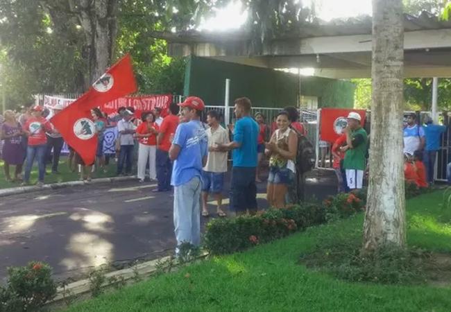 Ocupação de sem-terra na sede do Incra em Belém. Abril de 2015. (Foto: Divulgação MST)