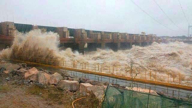 Reservatório da usina de Santo Antônio, em 2014. (Foto: Cley  Medeiros)