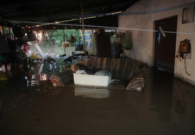 O bairro durante a enchente de 2014 (Foto: Lunaé Parracho/Greenpeace)
