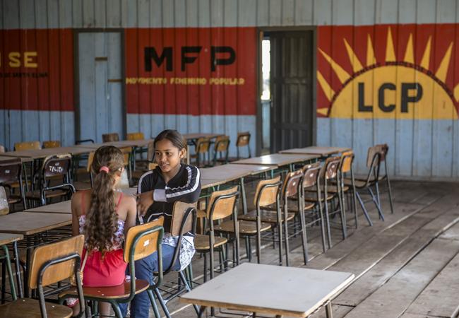 Escola Santa Elina, da Liga dos Camponeses. (Foto: Gerardo Lazzari)