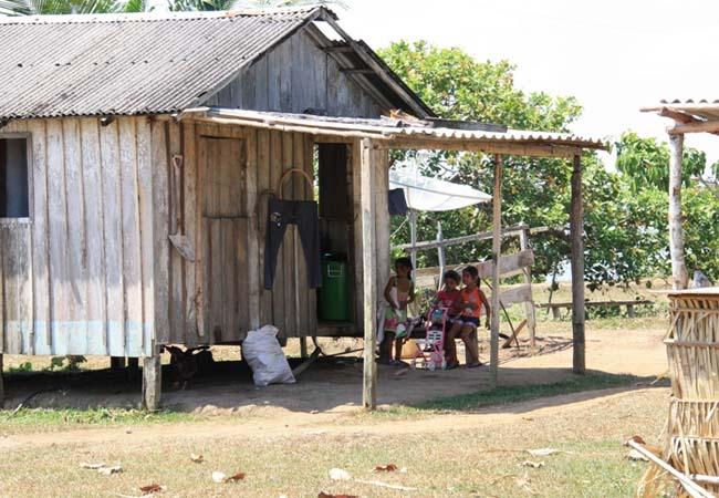 Moradia do povo indígena Mura, no Amazonas. (Foto: Ascom/MPF)